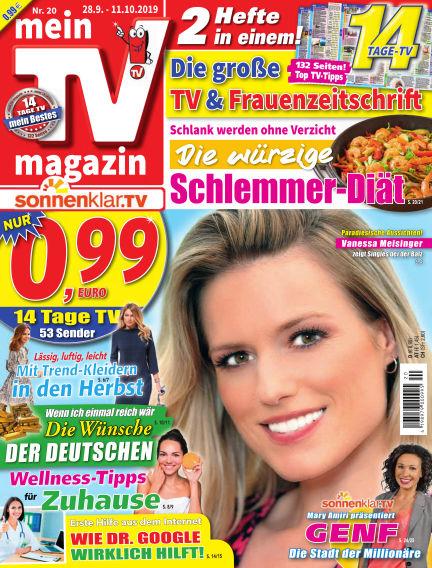 mein TV-magazin September 27, 2019 00:00
