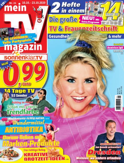 mein TV-magazin October 09, 2020 00:00