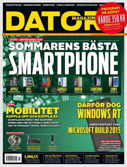 "Datormagazin (Publiceras numera i titeln ""Mobil Sverige"") June 08, 2015 00:00"