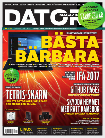 "Datormagazin (Publiceras numera i titeln ""Mobil Sverige"") September 26, 2017 00:00"