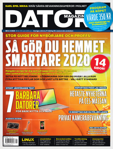 "Datormagazin (Publiceras numera i titeln ""Mobil Sverige"") February 06, 2020 00:00"