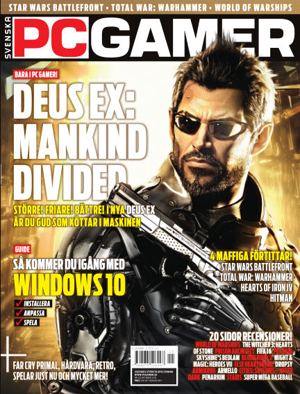 Svenska PC Gamer November 01, 2015 00:00