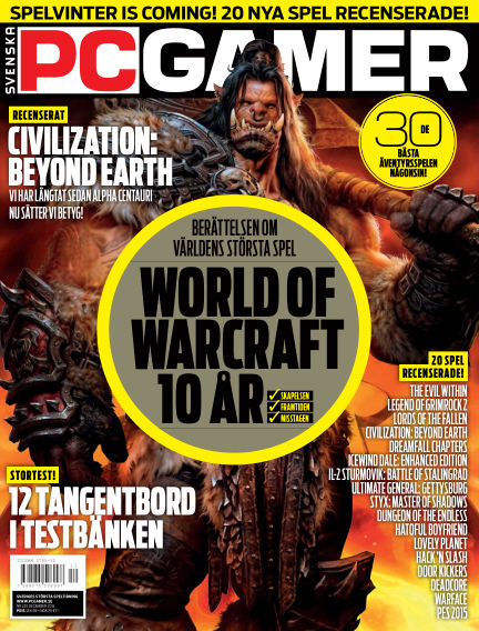 Svenska PC Gamer December 01, 2014 00:00
