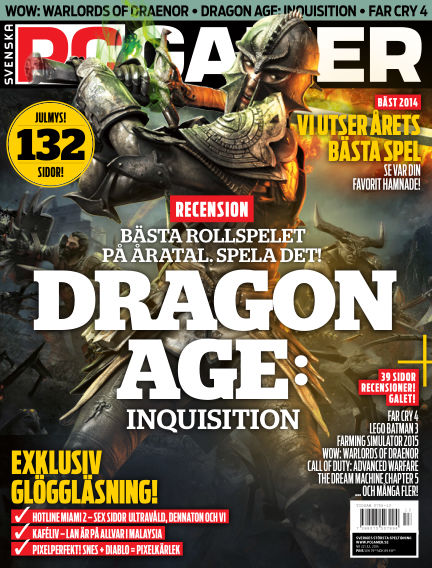 Svenska PC Gamer December 30, 2014 00:00