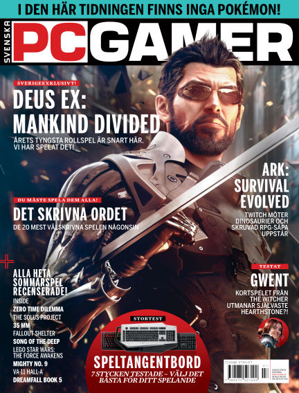 Svenska PC Gamer August 04, 2016 00:00