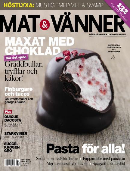 Mat & Vänner (Inga nya utgåvor) September 01, 2013 00:00