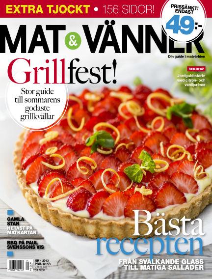Mat & Vänner (Inga nya utgåvor) July 01, 2013 00:00