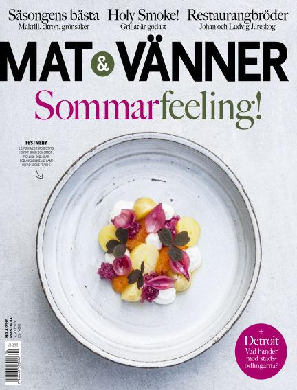 Mat & Vänner (Inga nya utgåvor) May 26, 2015 00:00