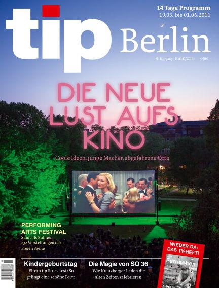 tip Berlin May 19, 2016 00:00