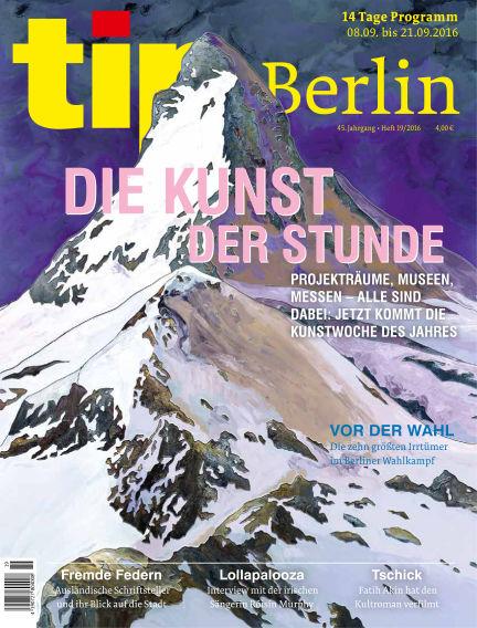 tip Berlin September 08, 2016 00:00