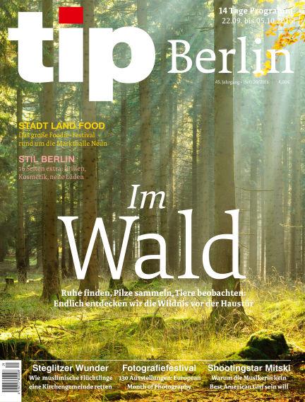 tip Berlin September 22, 2016 00:00