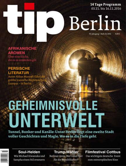 tip Berlin November 03, 2016 00:00