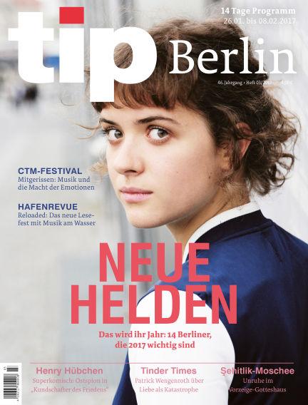 tip Berlin January 25, 2017 00:00