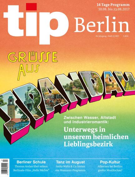 tip Berlin August 09, 2017 00:00