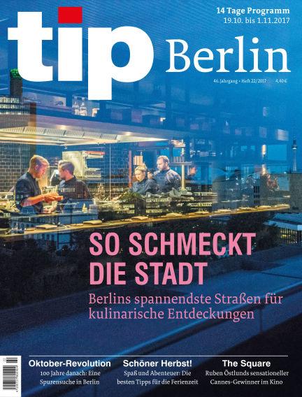 tip Berlin October 18, 2017 00:00