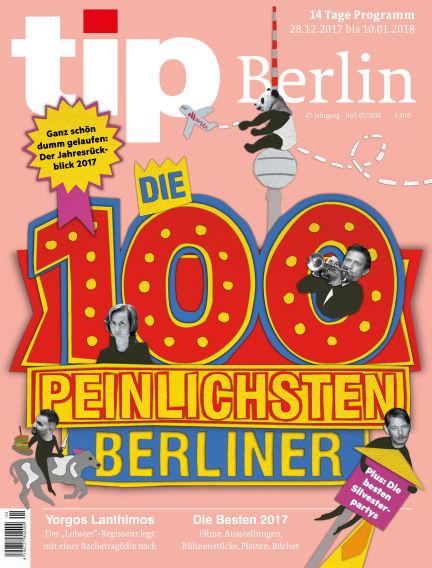 tip Berlin December 28, 2017 00:00
