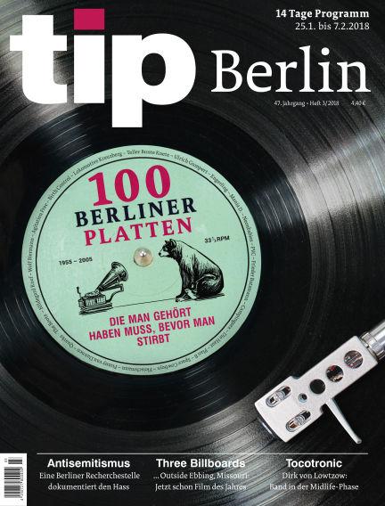 tip Berlin January 24, 2018 00:00