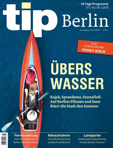 tip Berlin May 16, 2018 00:00