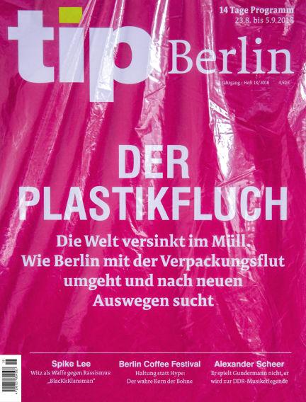 tip Berlin August 22, 2018 00:00