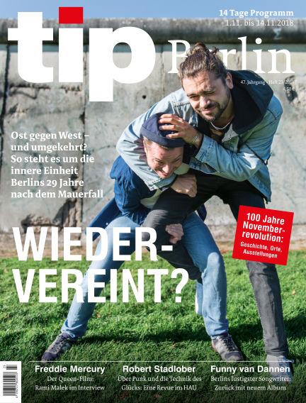 tip Berlin November 01, 2018 00:00
