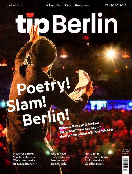tip Berlin October 17, 2019 00:00