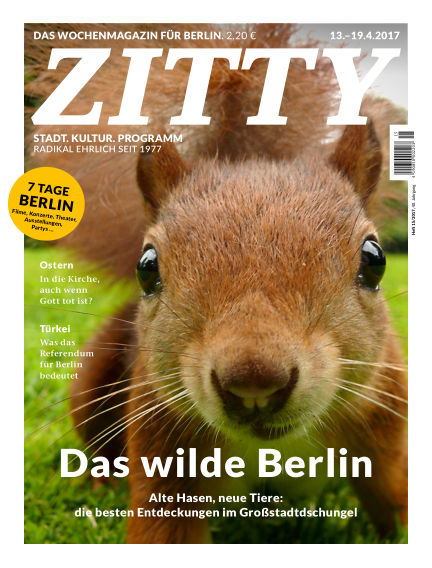 ZITTY Das Berlin-Magazin für 14 Tage und die Nächte April 15, 2017 00:00