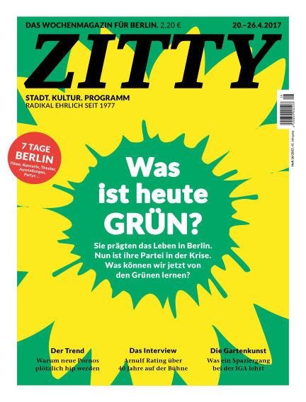 ZITTY Das Berlin-Magazin für 14 Tage und die Nächte April 18, 2017 00:00