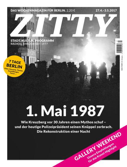 ZITTY Das Berlin-Magazin für 14 Tage und die Nächte April 25, 2017 00:00