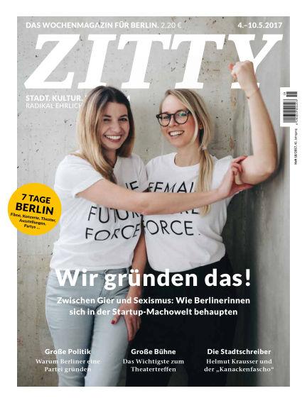 ZITTY Das Berlin-Magazin für 14 Tage und die Nächte May 02, 2017 00:00