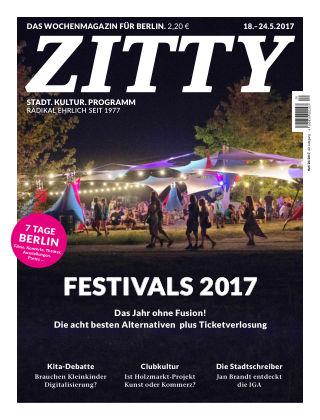 ZITTY Das Berlin-Magazin für 14 Tage und die Nächte 20/2017