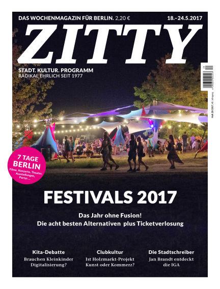 ZITTY Das Berlin-Magazin für 14 Tage und die Nächte May 16, 2017 00:00
