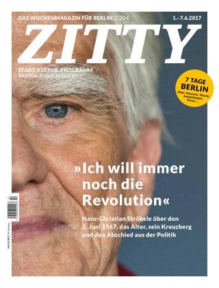 ZITTY Das Berlin-Magazin für 14 Tage und die Nächte 22/2017