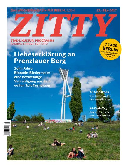 ZITTY Das Berlin-Magazin für 14 Tage und die Nächte June 20, 2017 00:00