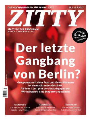 ZITTY Das Berlin-Magazin für 14 Tage und die Nächte 26/2017
