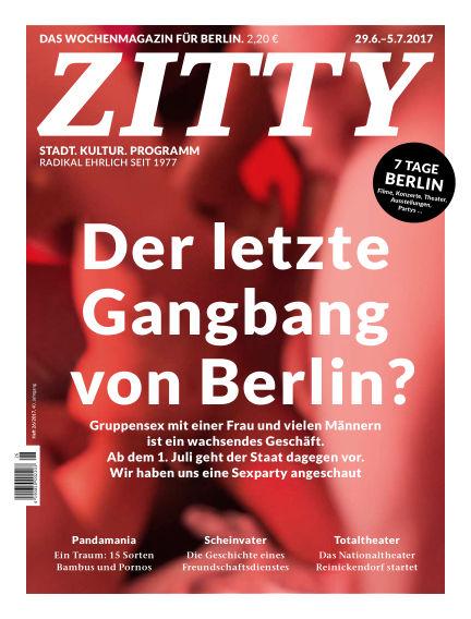 ZITTY Das Berlin-Magazin für 14 Tage und die Nächte June 27, 2017 00:00