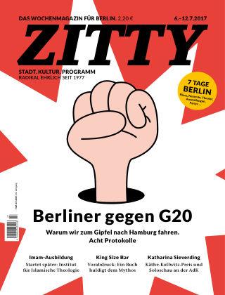 ZITTY Das Berlin-Magazin für 14 Tage und die Nächte 27/2017