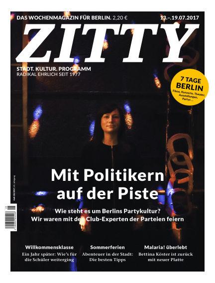 ZITTY Das Berlin-Magazin für 14 Tage und die Nächte July 11, 2017 00:00