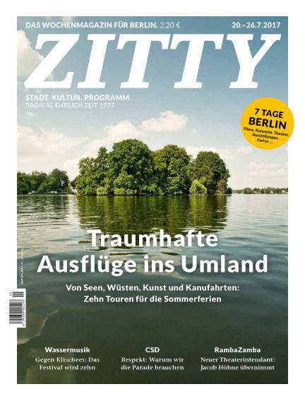 ZITTY Das Berlin-Magazin für 14 Tage und die Nächte July 18, 2017 00:00