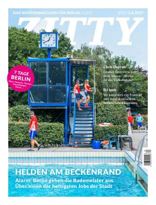 ZITTY Das Berlin-Magazin für 14 Tage und die Nächte 30/2017