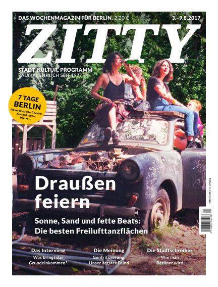 ZITTY Das Berlin-Magazin für 14 Tage und die Nächte August 01, 2017 00:00