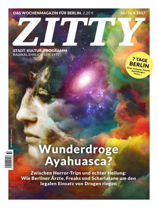 ZITTY Das Berlin-Magazin für 14 Tage und die Nächte 32/2017