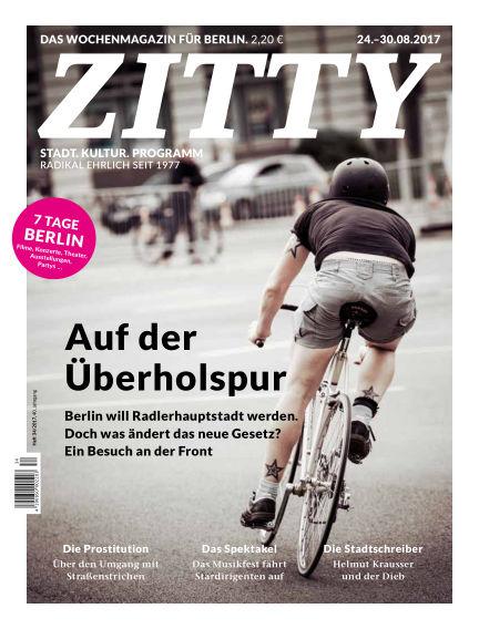 ZITTY Das Berlin-Magazin für 14 Tage und die Nächte August 22, 2017 00:00