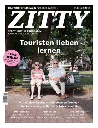 ZITTY Das Berlin-Magazin für 14 Tage und die Nächte 35/2017