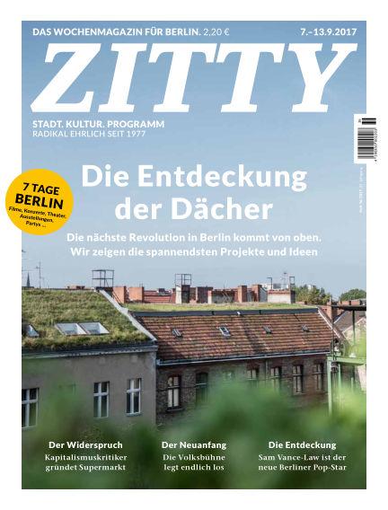 ZITTY Das Berlin-Magazin für 14 Tage und die Nächte September 05, 2017 00:00