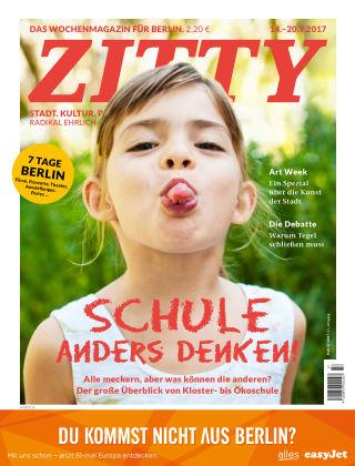 ZITTY Das Berlin-Magazin für 14 Tage und die Nächte 37/2017