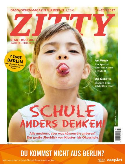 ZITTY Das Berlin-Magazin für 14 Tage und die Nächte September 12, 2017 00:00