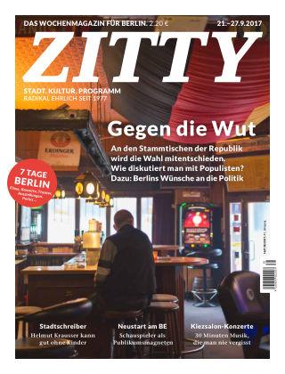 ZITTY Das Berlin-Magazin für 14 Tage und die Nächte 38/2017