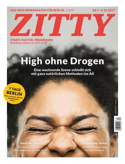 ZITTY Das Berlin-Magazin für 14 Tage und die Nächte September 26, 2017 00:00