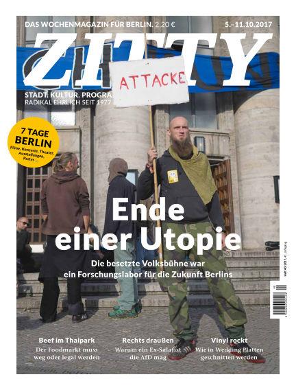 ZITTY Das Berlin-Magazin für 14 Tage und die Nächte October 03, 2017 00:00