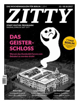 ZITTY Das Berlin-Magazin für 14 Tage und die Nächte 41/2017